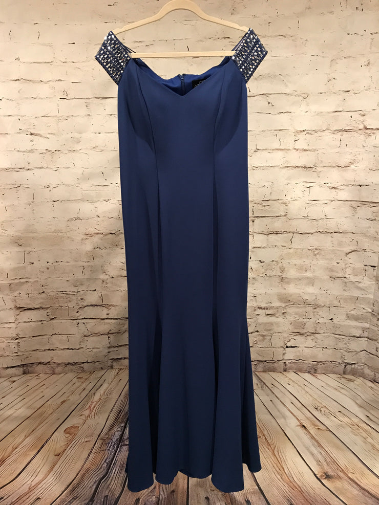 BLUE LONG EVENING GOWN (NEW)
