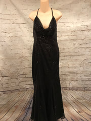 BLACK FULL SEQUIN LONG GOWN