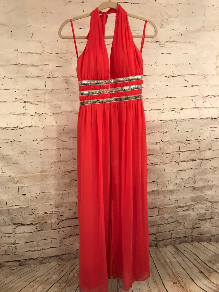 CORAL LONG EVENING GOWN