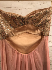 PINK/GOLD EVENING GOWN