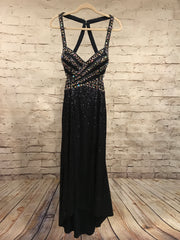 NAVY FULL SEQUIN LONG GOWN