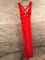 ORANGE LONG EVENING GOWN