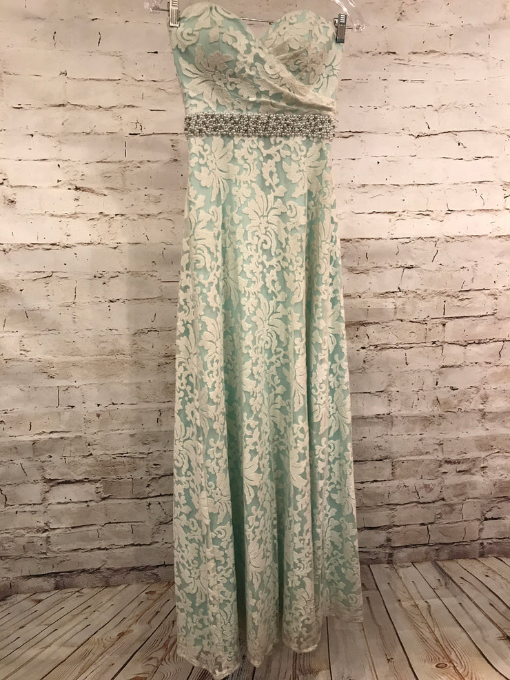 LIGHT BLUE/WHITE LONG DRESS (NEW)