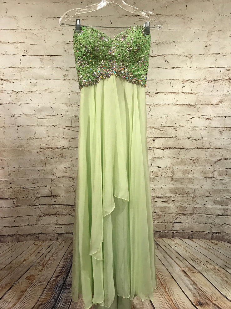 GREEN GEM TOP EVENING GOWN