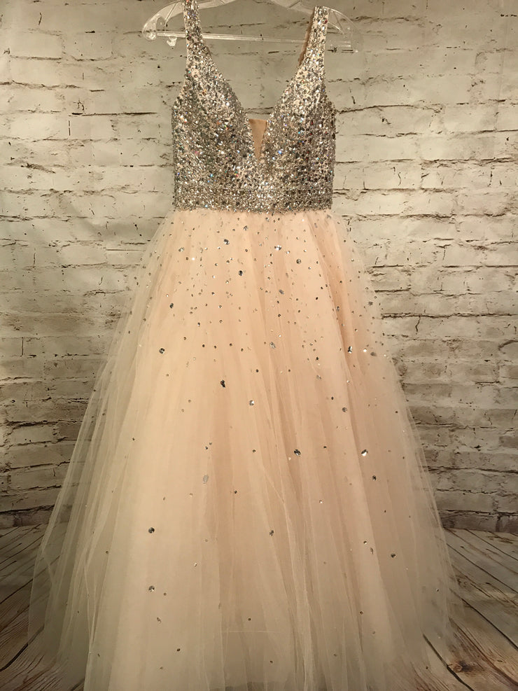IVORY BEADED PRINCESS GOWN