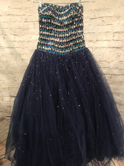 NAVY PRINCESS GOWN