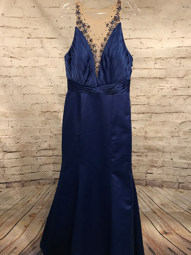 ROYAL BLUE MERMAID GOWN (NEW)