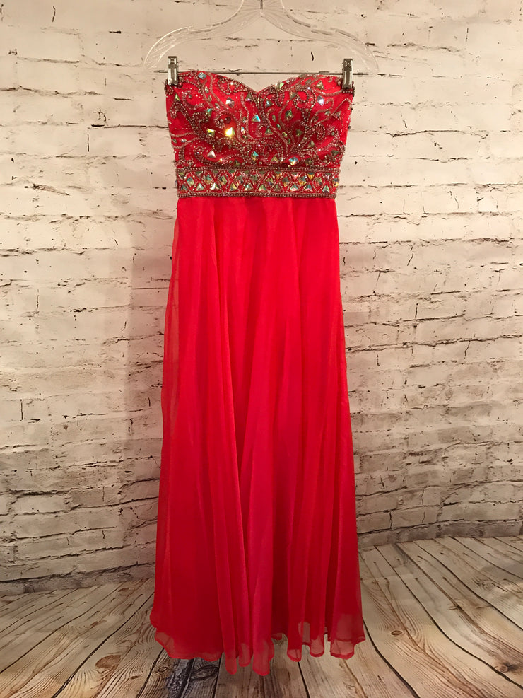 RASPBERRY LONG EVENING GOWN