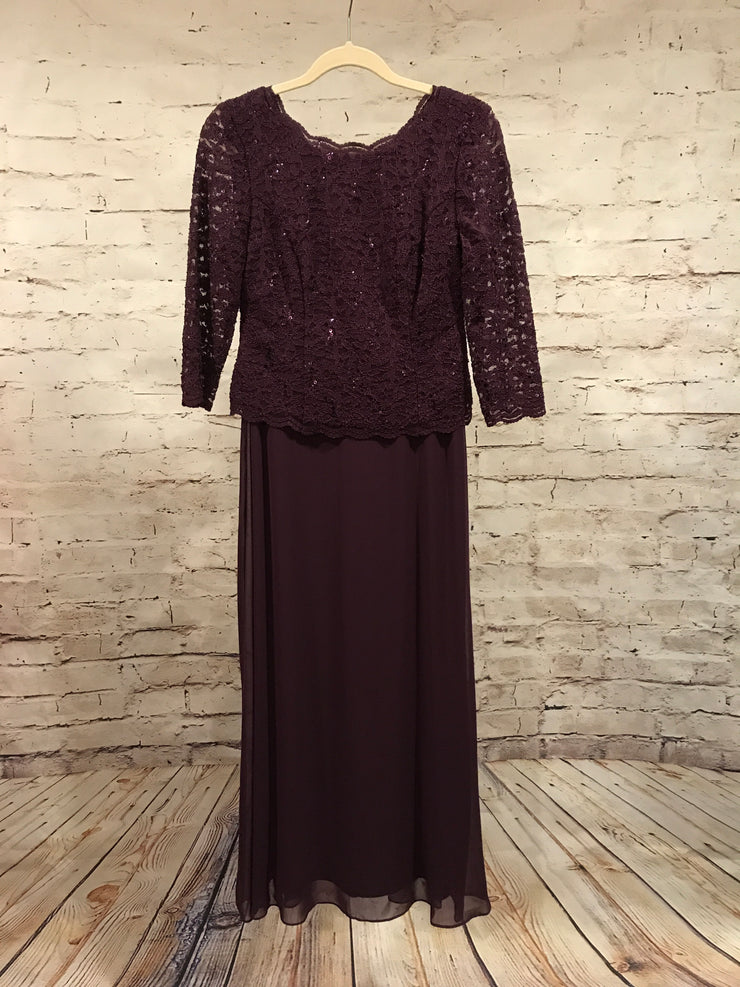 MOB - DARK PURPLE LONG EVENING GOWN