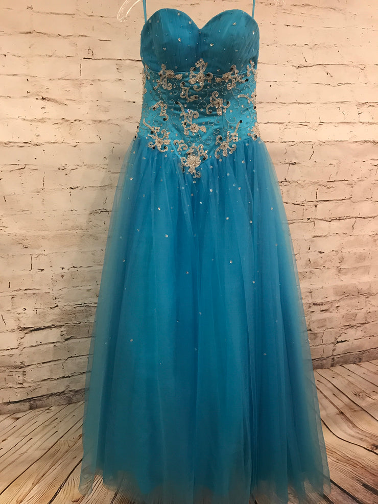 BRIGHT BLUE PRINCESS GOWN