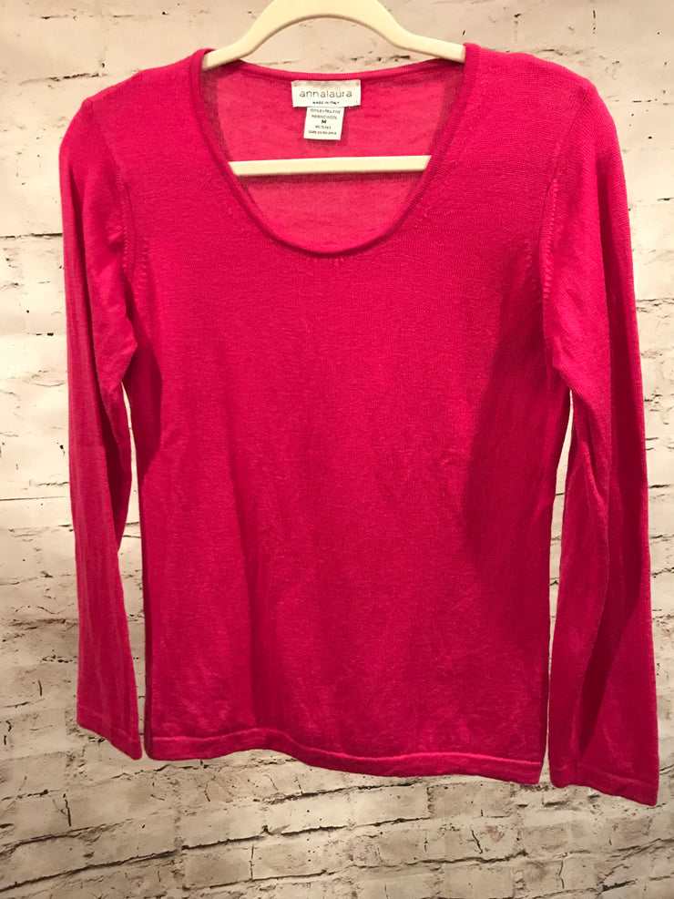 PINK SWEATER 100% MERINO WOOL