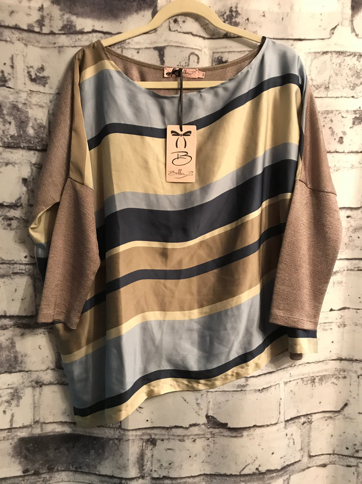 TAN/BLUE STRIPED TOP (NEW)