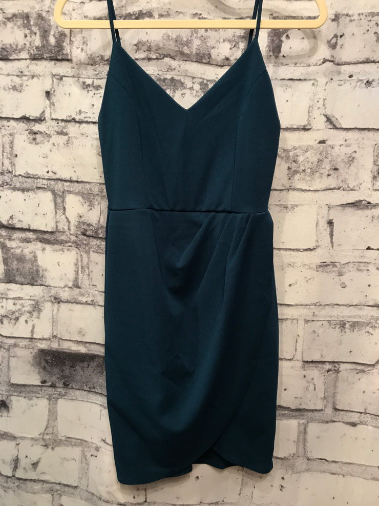 NEW-DARK TEAL SHORT DRESS