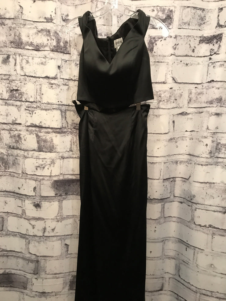 BLACK 2 PIECE LONG GOWN