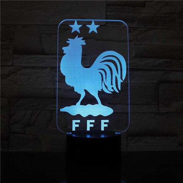 Equipe de France FFF #2 Lampe optique LED CHAMPIONS ⭐⭐⚽ - Ma Deco Maison