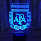 Argentine Albiceleste Lampe optique LED illusion 3D ⚽ - Ma Deco Maison