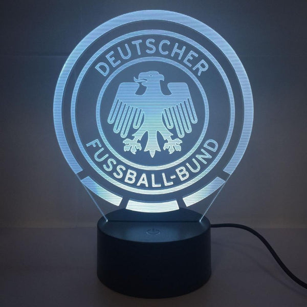 Allemagne Mannschaft Lampe optique LED illusion 3D ⚽ - Ma Deco Maison
