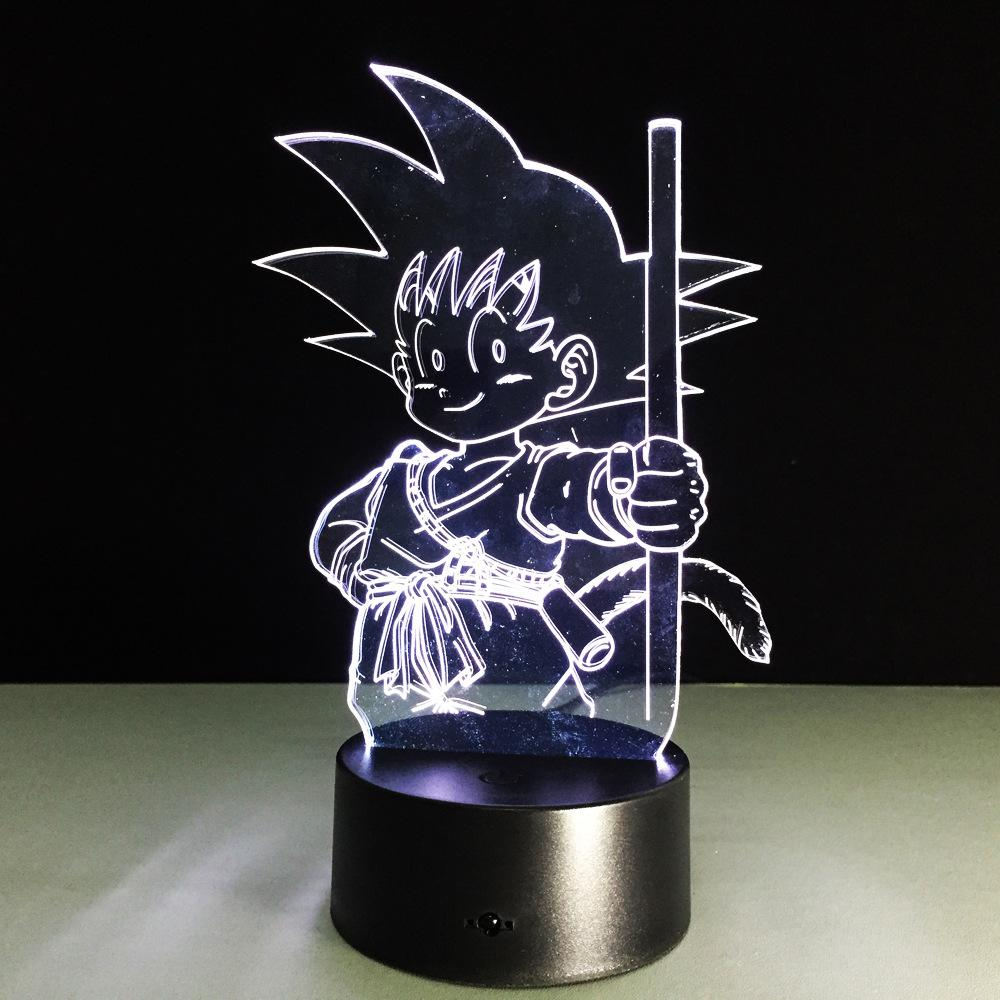 Dragon Ball Son Goku Enfant Lampe optique LED illusion 3D - Ma Deco Maison
