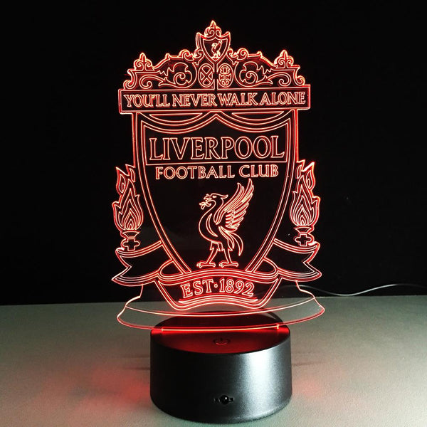 Liverpool FC Logo Lampe optique LED illusion 3D ⚽ - Ma Deco Maison