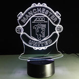 Manchester United Logo Lampe optique LED illusion 3D ⚽ - Ma Deco Maison