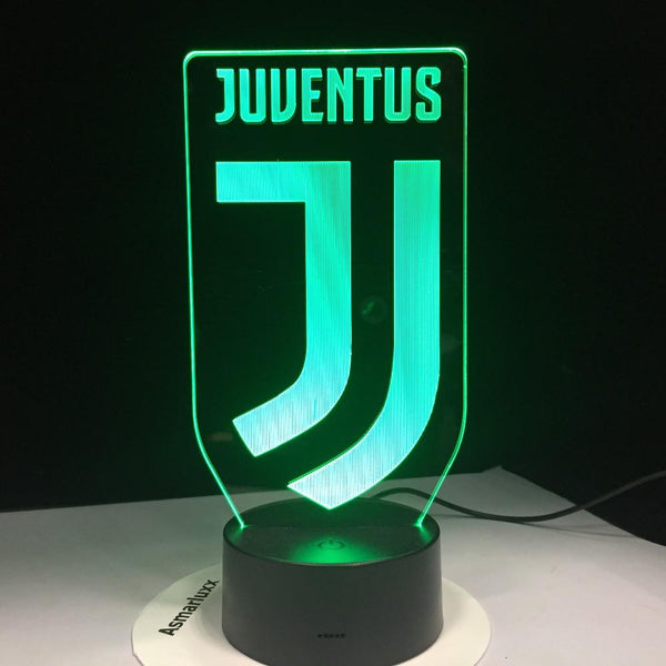 Juventus FC Logo Lampe optique LED illusion 3D ⚽ - Ma Deco Maison