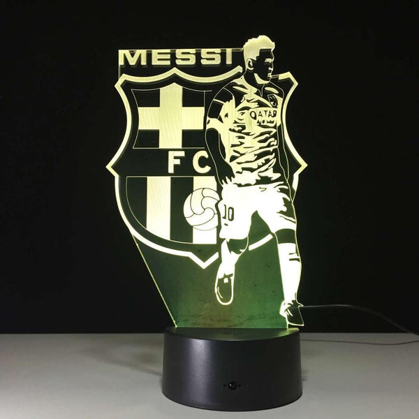 Lionel Messi Lampe optique LED illusion 3D ⚽ - Ma Deco Maison