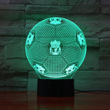 Liverpool FC Ballon Lampe optique LED illusion 3D ⚽ - Ma Deco Maison