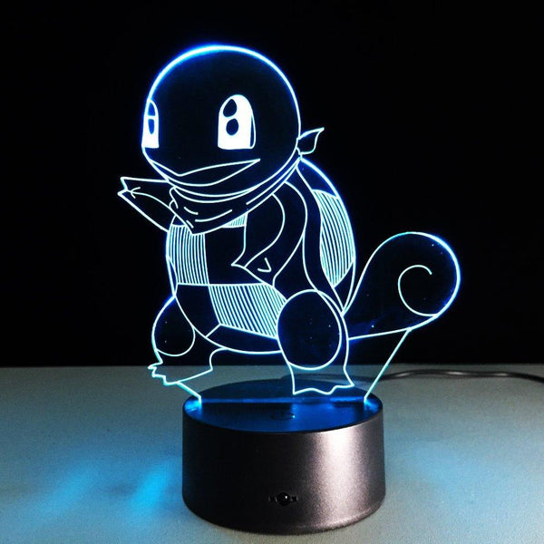 Carapuce Pokémon Lampe optique LED illusion 3D 💧 - Ma Deco Maison