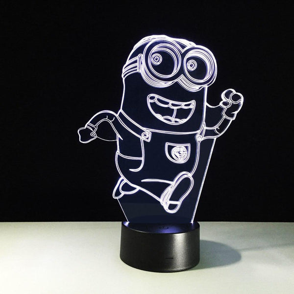 Minions Lampe optique LED illusion 3D #2 - Ma Deco Maison