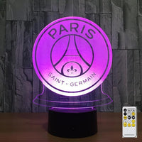 Paris SG Logo Lampe optique LED illusion 3D ⚽ - Ma Deco Maison
