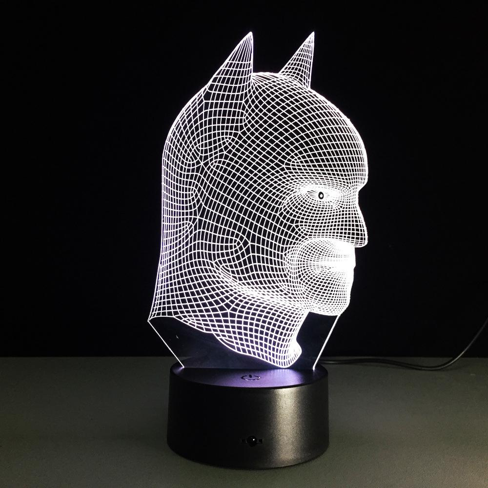 Batman Lampe optique LED illusion 3D - Ma Deco Maison