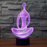Position Lotus Yoga Meditation Lampe optique LED illusion 3D 🧘 - Ma Deco Maison