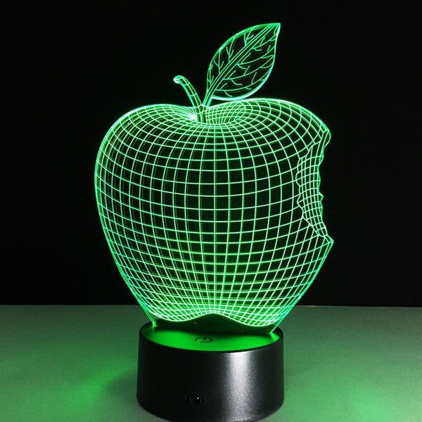 Apple Addict Lampe optique LED illusion 3D 🍏 - Ma Deco Maison