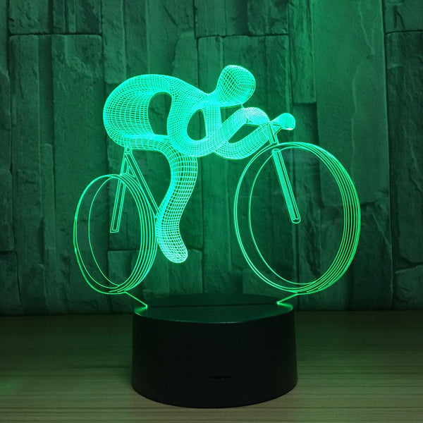 Vélo Lampe optique LED illusion 3D 🚴‍♂️ - Ma Deco Maison