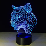 Léopard Lampe optique LED illusion 3D 🐆 - Ma Deco Maison