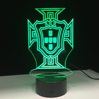 Portugal Selecção Lampe optique LED illusion 3D ⚽ - Ma Deco Maison