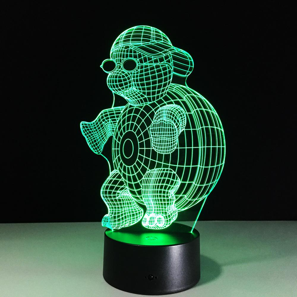 Optique Illusion Lampe Led 3d Ninja Tortue QdCorxBWe