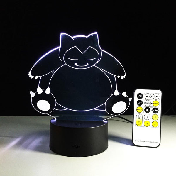 Ronflex Pokémon Lampe optique LED illusion 3D - Ma Deco Maison