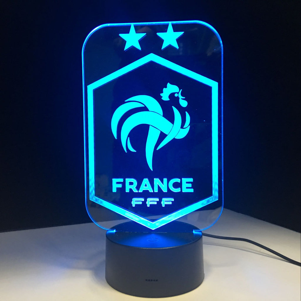 Equipe de France FFF Lampe optique LED CHAMPIONS ⭐⭐⚽