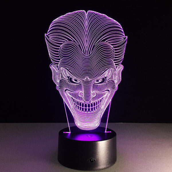 Joker Lampe optique LED illusion 3D - Ma Deco Maison