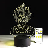 Dragon Ball Son Goku Lampe optique LED illusion 3D - Ma Deco Maison