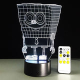 Bob l'éponge Lampe optique LED illusion 3D - Ma Deco Maison