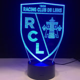 RC Lens Logo Lampe optique LED illusion 3D ⚽ - Ma Deco Maison