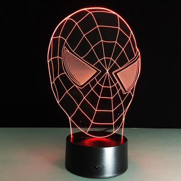 Spider-man masque Lampe optique LED illusion 3D #3 - Ma Deco Maison