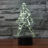 Cristiano Ronaldo CR7 Lampe optique LED illusion 3D ⚽ - Ma Deco Maison