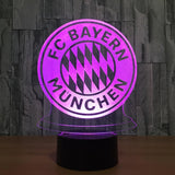 FC Bayern Munich Logo Lampe optique LED illusion 3D ⚽ - Ma Deco Maison