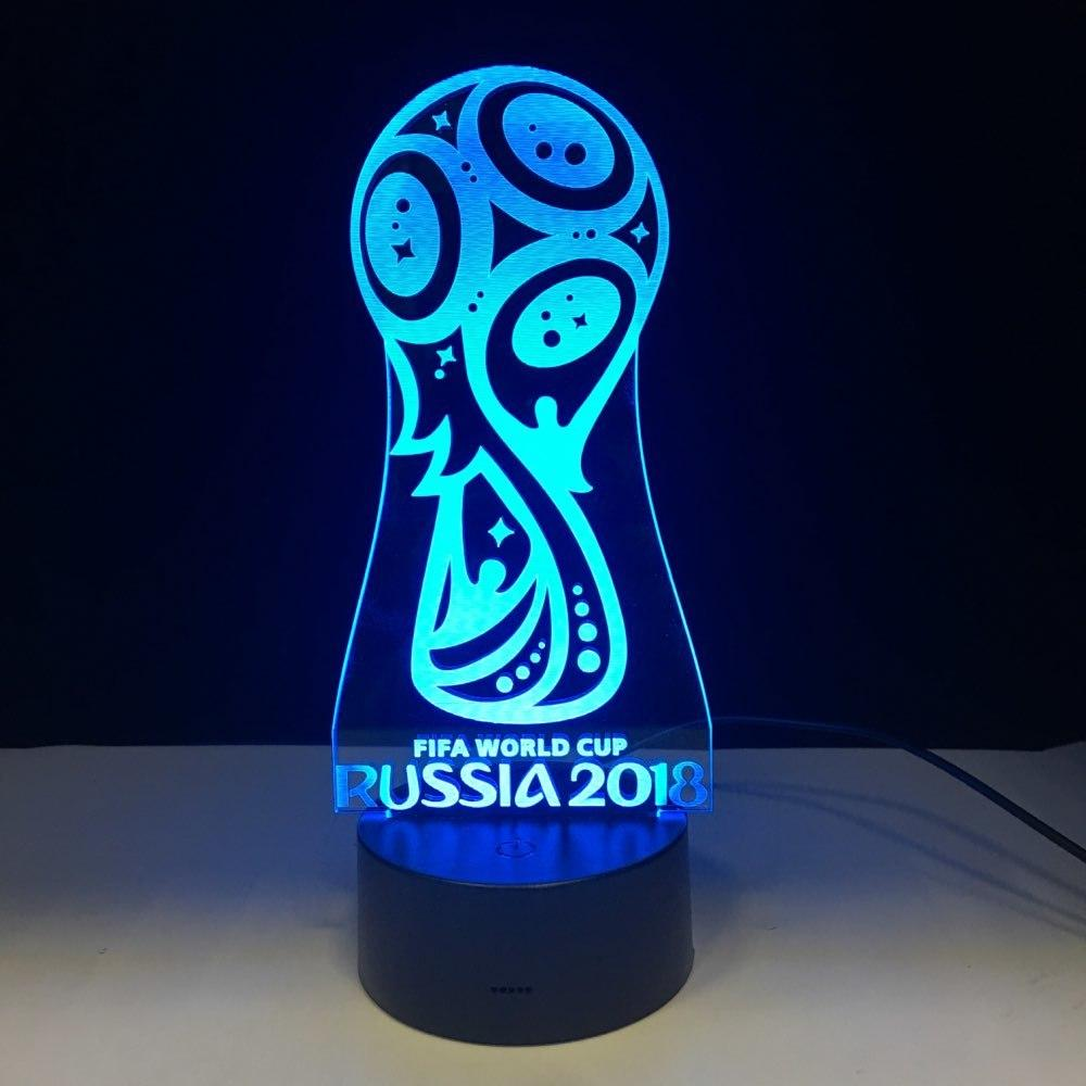 Coupe du Monde 2018 Russie Lampe optique LED illusion 3D 🏆⚽ - Ma Deco Maison