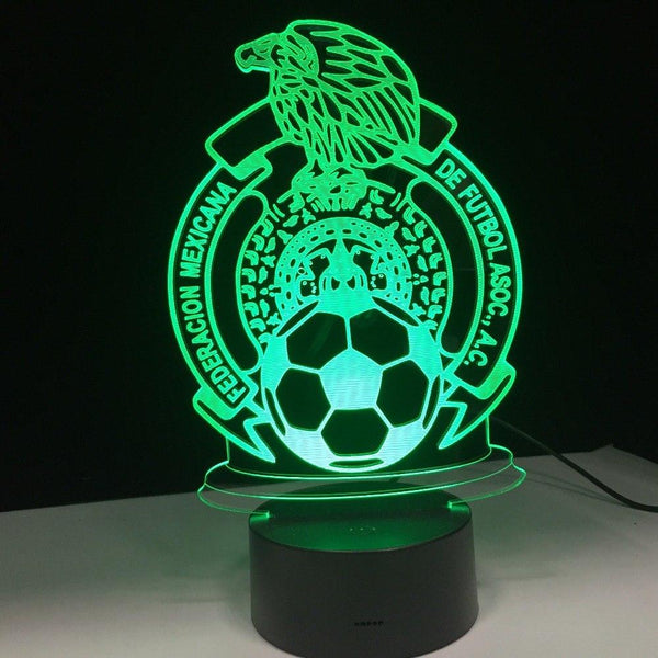 Mexique El Tricolor Lampe optique LED illusion 3D ⚽ - Ma Deco Maison