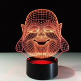 Bouddha Lampe optique LED illusion 3D #2 - Ma Deco Maison