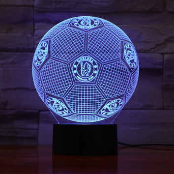 Chelsea FC Ballon Lampe optique LED illusion 3D ⚽ - Ma Deco Maison
